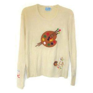 1970s vintage artist painter sweater size medium